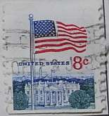 1971 Flag and White House 8c Vertical Coil