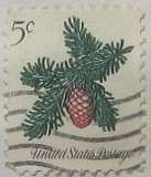 1964 Christmas Conifer 5c