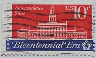 1974 Independence Hall 10c