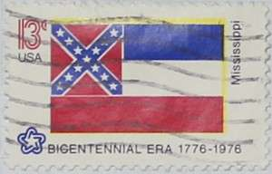1976 Mississippi Flag 13c