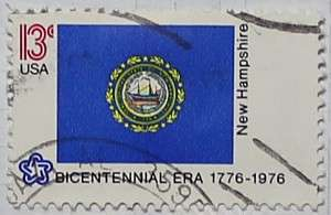 1976 New Hampshire Flag 13c