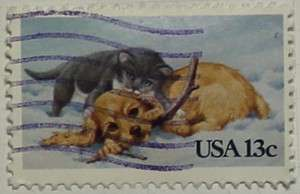1982 Christmas Dog and Cat 13c
