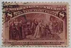 1893 Columbus 8c