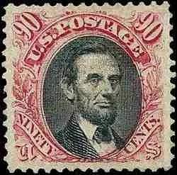 1869 Lincoln 90c