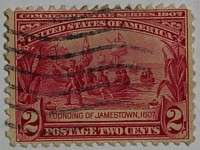 1907 Jamestown 2c