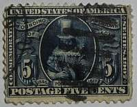 1907 Jamestown 5c
