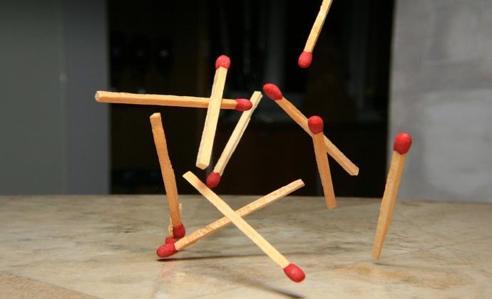 Интересные головоломки со спичками…
