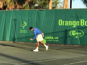 Mikeal Carpenter, Junior Player Scholarship recipient, Playing Tennis at Orange Bowl