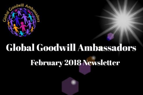 Wonderful Initiative by Richard DiPilla – Global Goodwill Ambassadors – Newsletter 02 -2018