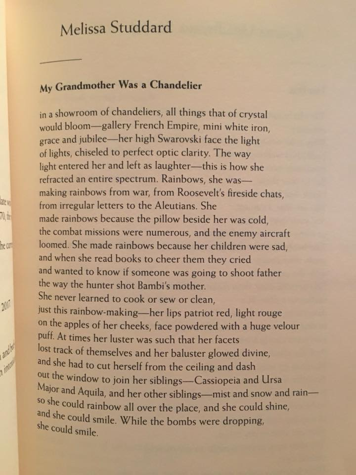 My Grandmother Was a Chandelier by Melissa Studdard