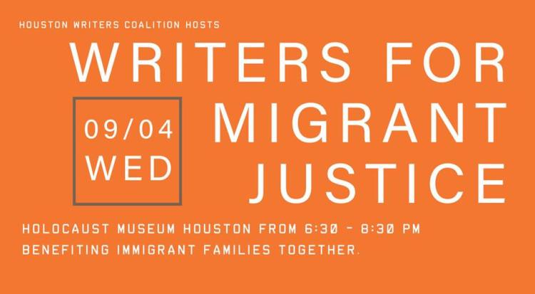Reading for the Writers for Migrant Justice in benefit of Immigrant Families Together at the Houston Holocaust Museum