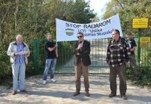 Protest przeciwko radarom w Ustce - ustka24.info