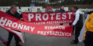 Pikieta rybaków w Ustce - ustka24.info