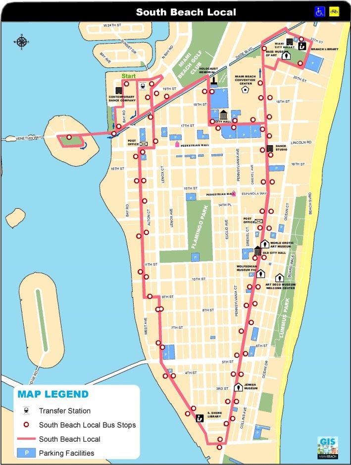 Miami South Beach Map throughout Map Of Miami Beach Hotels
