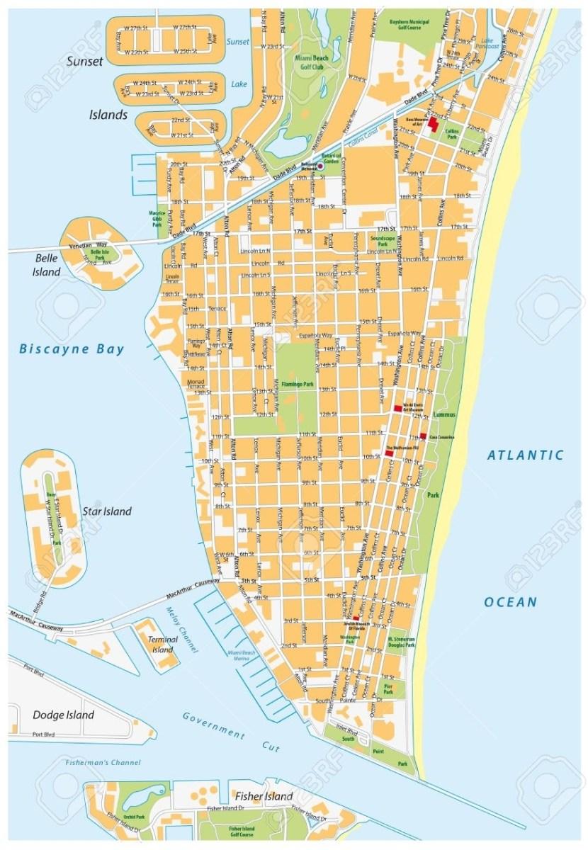 mapa de miami beach florida - ustrave