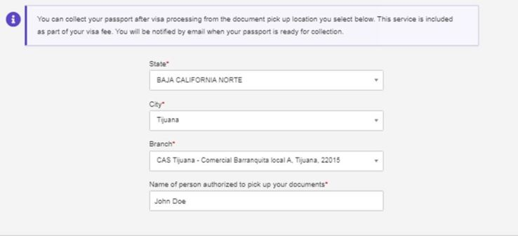 DHL Passport Pickup Delivery Address location in Tijuana Mexico