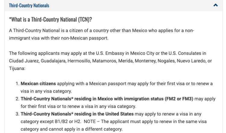 Change of Status F1 to H1B stamping & all different visa category info in Mexico - info - Mexico US Visa Stamping Visa Info H1B Appointment Consulate Embassy Fee Payment Services