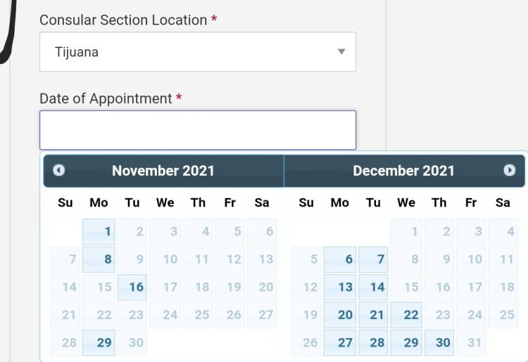 Current Visa Appointment Interview Dates Availability in Mexico 2021 2 Mexico US Visa Stamping Visa Info H1B Appointment