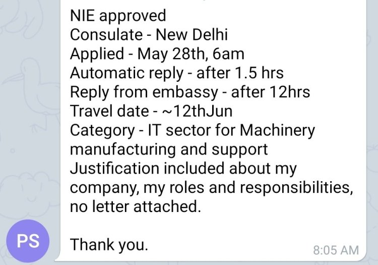 How to Apply for NIE - National Interest Exception from India to USA 16 Mexico US Visa Stamping Visa Info H1B Appointment