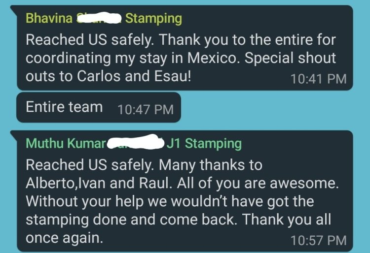 Reviews 6 Mexico US Visa Stamping Visa Info H1B Appointment