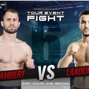 Bertrand Lambert au Tour Event Fight 6