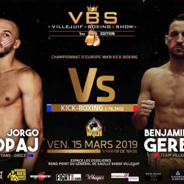 Fight Infos Fight Infos Villejuif Boxing Show : échéance européenne pour Gerbet !
