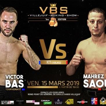 VBSVillejuif Boxing Show : Saoudi – Bas, la fougue de la jeunesse