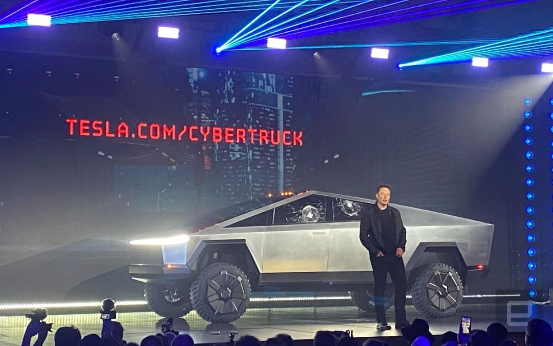 Tesla Unveils New Cybertruck….or….When Your Class Project Goes Horribly Wrong