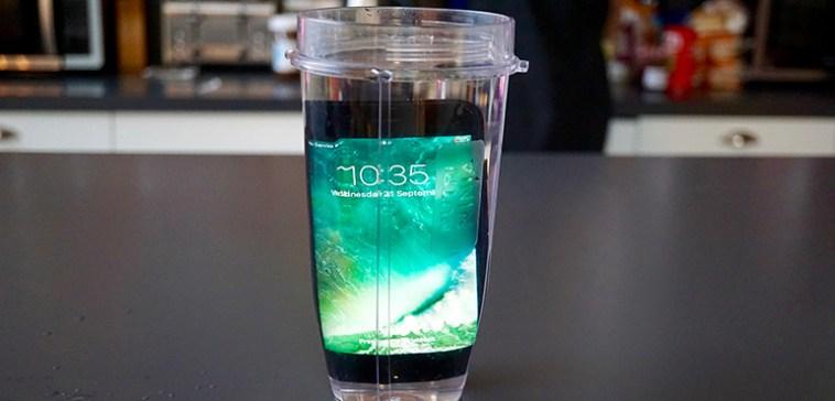 iPhone 7 jug of water