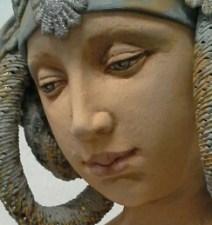 Breastfeeding madonna detail