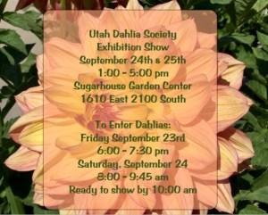 2016 Dahlia Show Invitation Sept 24 & 25