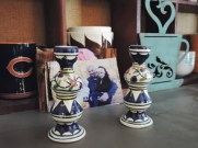 Sabbath candle holders at the Winkler home (Madison Butcher)