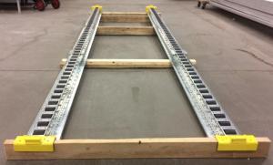 Pitch-Rail Pushback Pallet Rack test lane