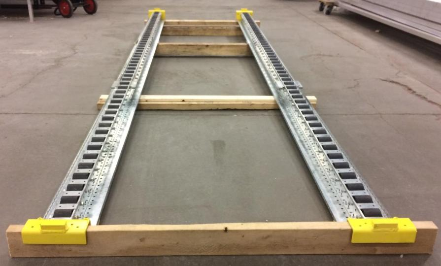 Pitch-Rail Pushback Pallet Rack test lane