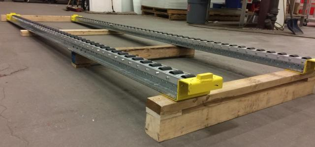 Pitch-Rail Pushback Pallet Rack slanted pallet rack