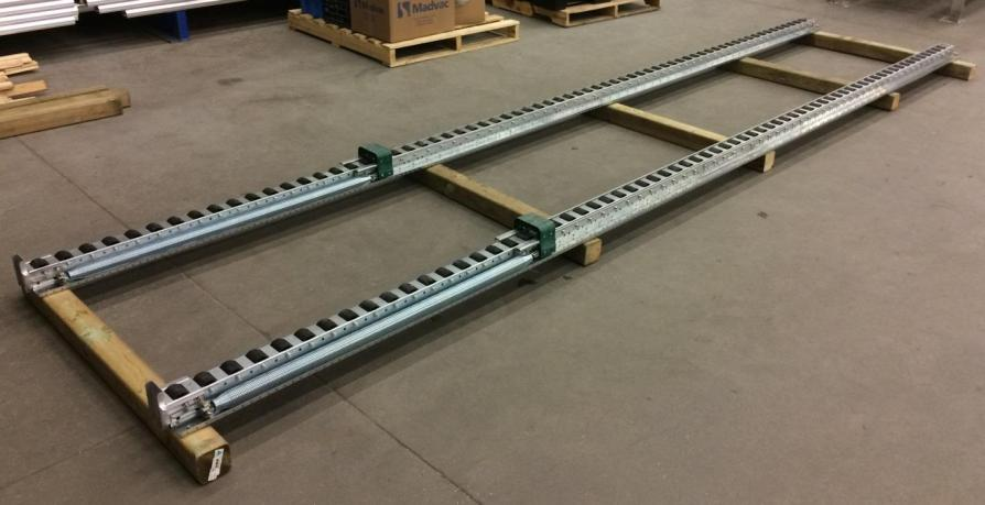 Spring-Rail Pushback Pallet Rack track only