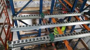 Spring-Rail Pushback Pallet Rack rails
