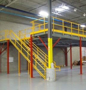 Modular Building on top of Mezzanine for Air force base