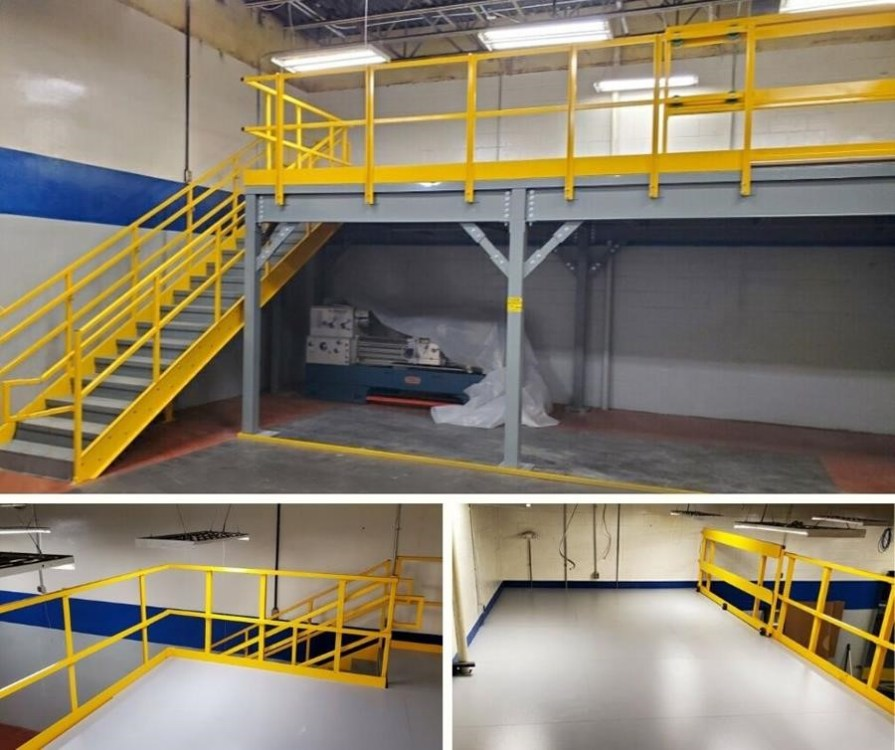 Mezzanine Platform with Slide Gate & Stairs