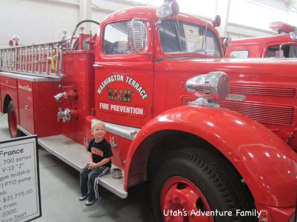 """Our 3 year-old seriously ran from engine to engine saying, """"Take my picture by this one."""" I think there are about 20 pictures of him from today."""