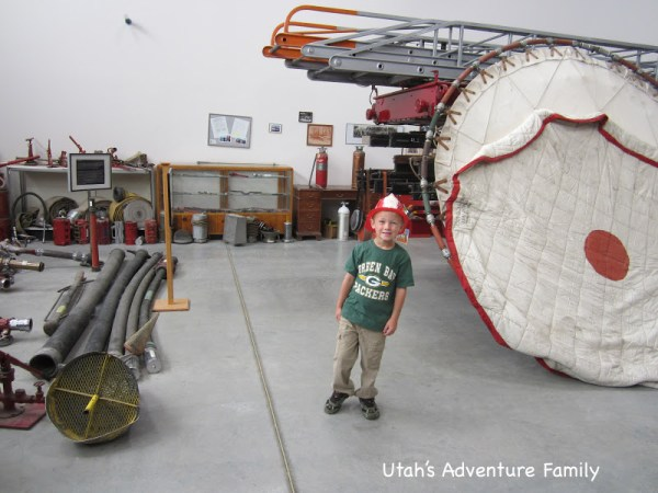 Our 6 year-old loved the different helmets and the old fire hoses.