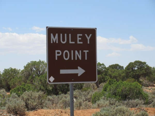 Watch for this sign to turn off to Muley Point!
