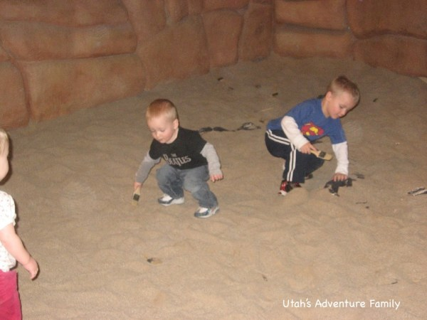 The fossil dig is also really fun. Kids of all ages enjoy the sand.