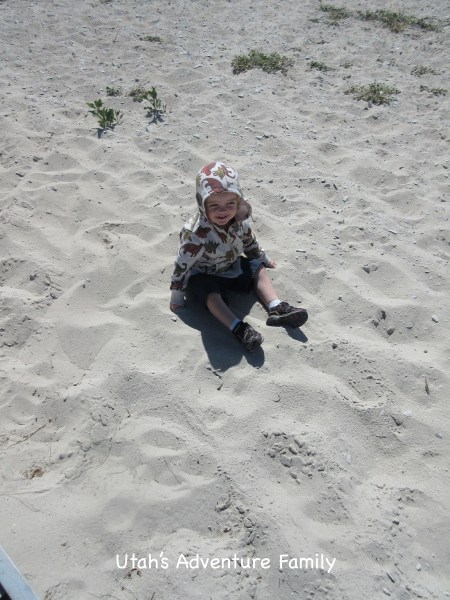 The sand is nice and soft!