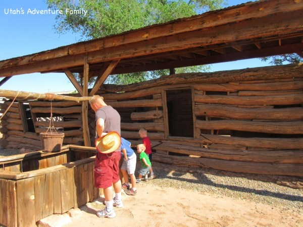 This is the one original cabin and well left standing. The others cabins at Fort Bluff are restored.