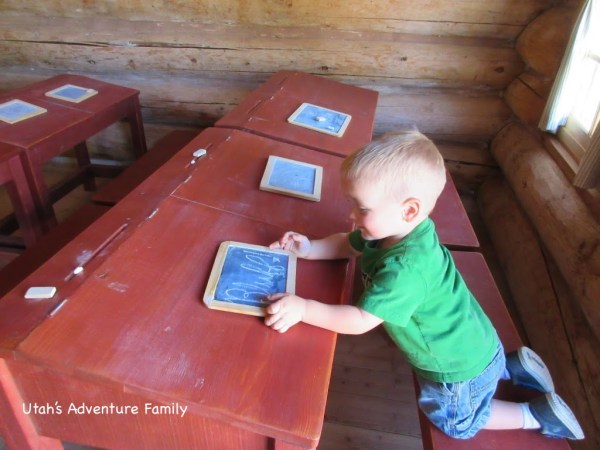 We had fun drawing on old slates in the school house.