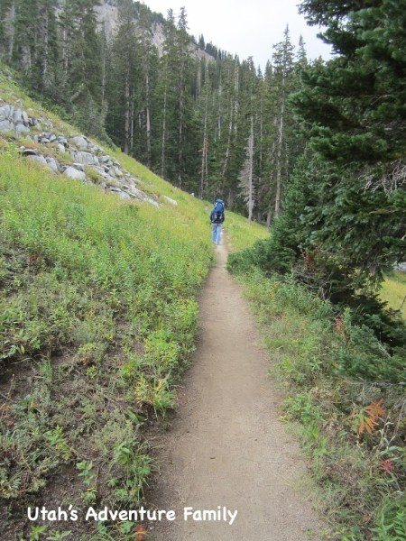 The trail over to Lake Martha from Lake Mary is very simple.