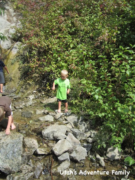 Ghost Falls is the perfect place for the kids to wade.