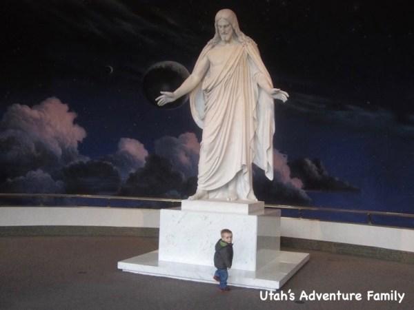 We always love walking upstairs to see the beautiful Christus statue.