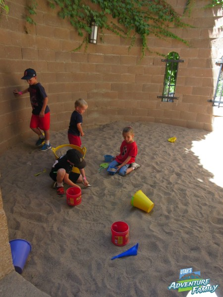 There is also a sandbox, slide, and a few other playground type things to play in.
